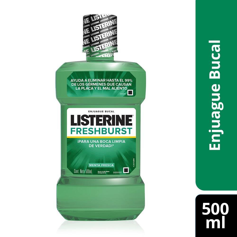 Enjuague Bucal LISTERINE Fresh Burst Botella 500 Ml