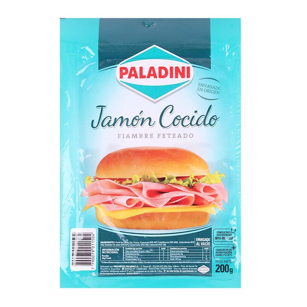 Jamon Cocido PALADINI Feteado Bli 200 Grm