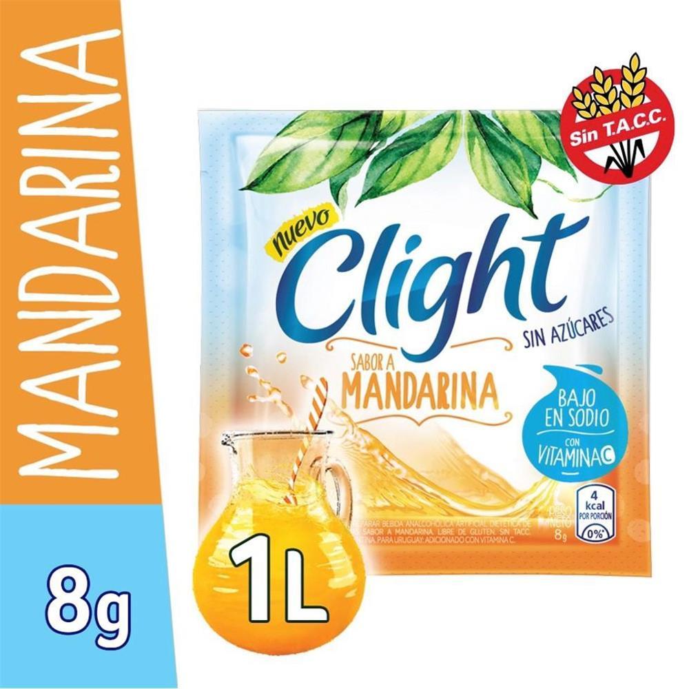 Jugo En Polvo CLIGHT Mandarina Light   Sobre 8 Gr