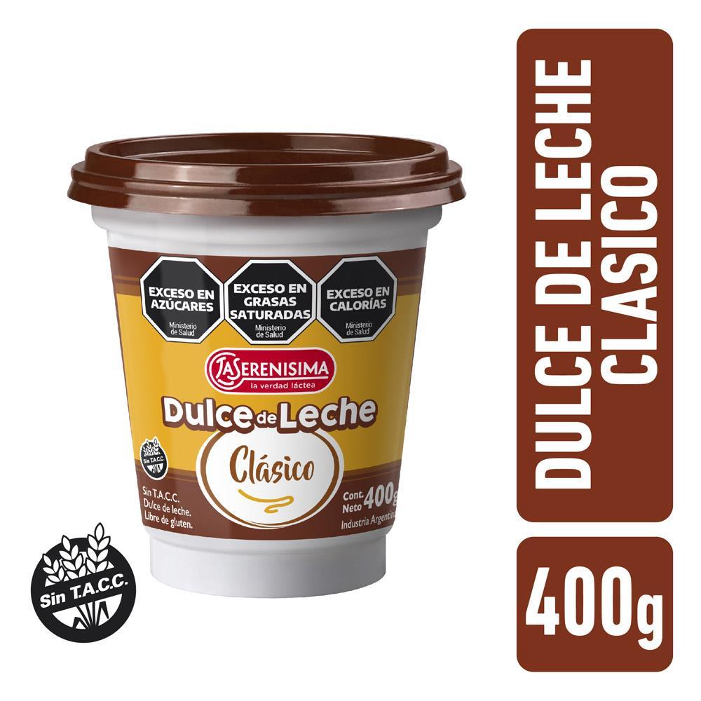Dulce De Leche LA SERENISIMA Clásico Pote 400 Gr