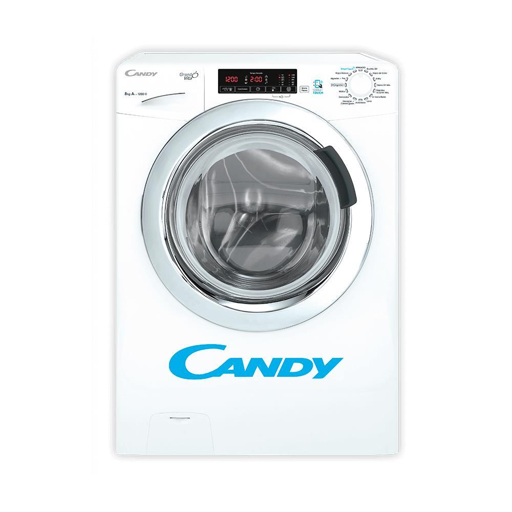Lavarropas Automático Candy Carga Frontal 8 Kg Gvs128tc3-12 Blanco