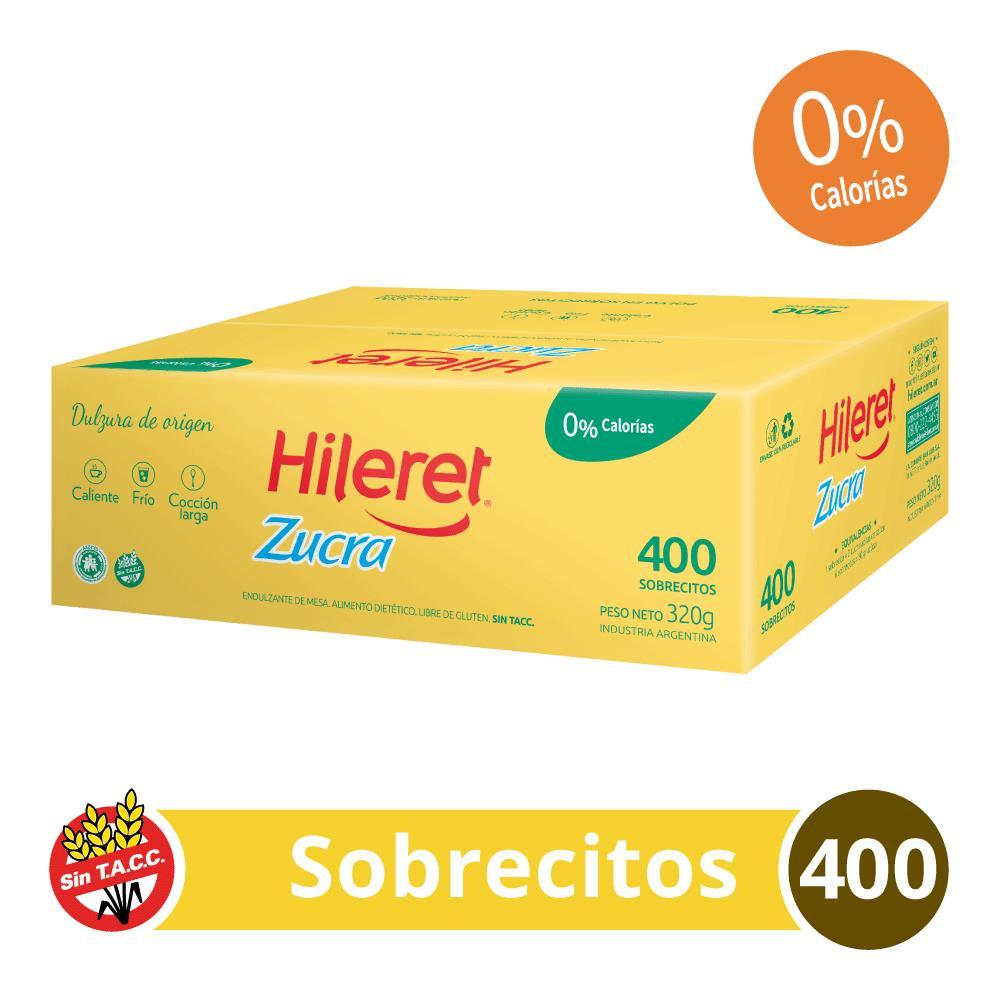 Edulcorante HILERET Zucra Caja Sobres X 400