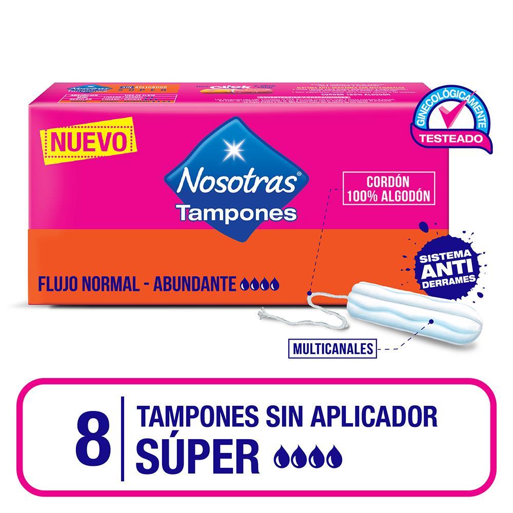 Tampones Super Sin Apli Nosotras Cja 8 Uni