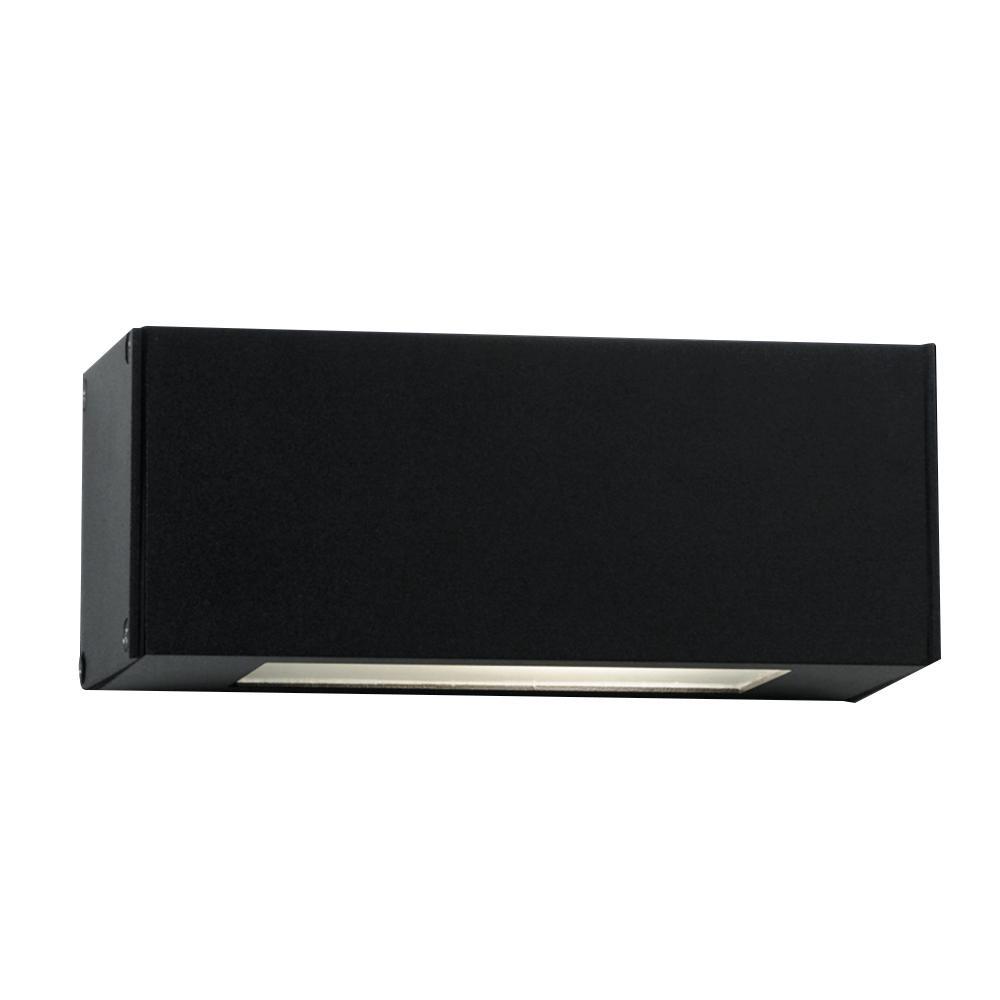 Aplique Pared 1 Vidrio Aluminio Negro . . .