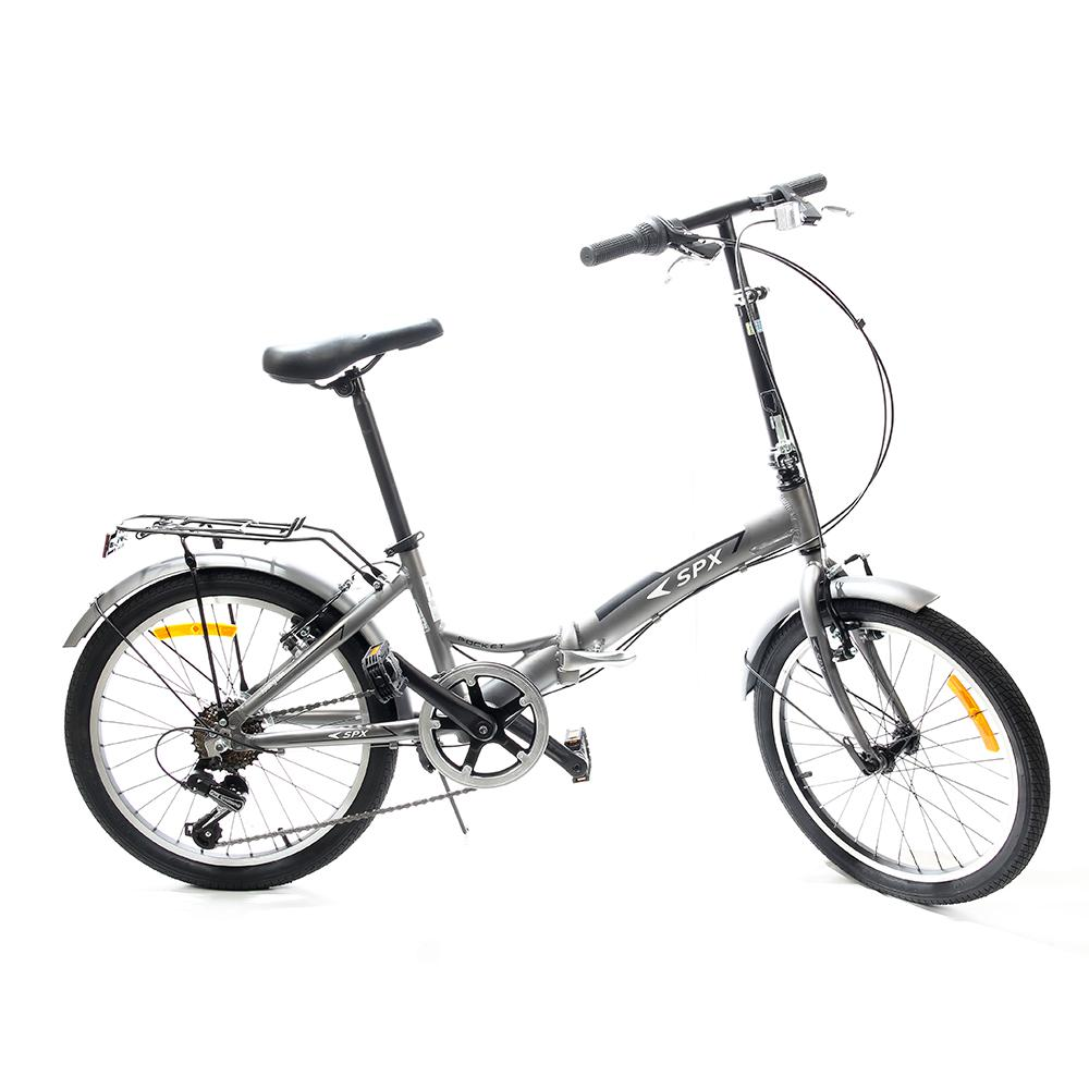 "Bicicleta Plegable Pocket SPX 20"" Gris"