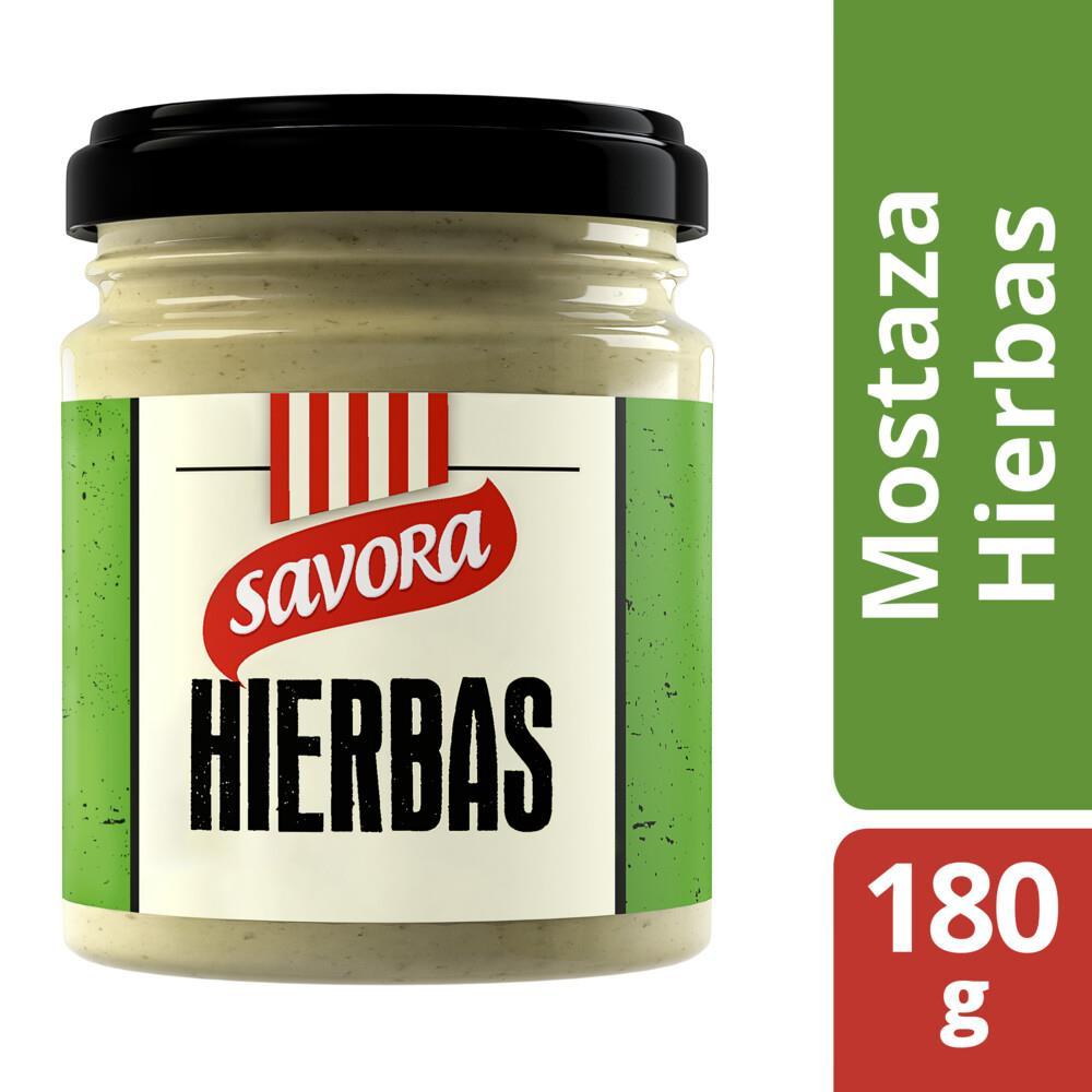 Mostaza Con Hierbas Savora Fra 180 Grm