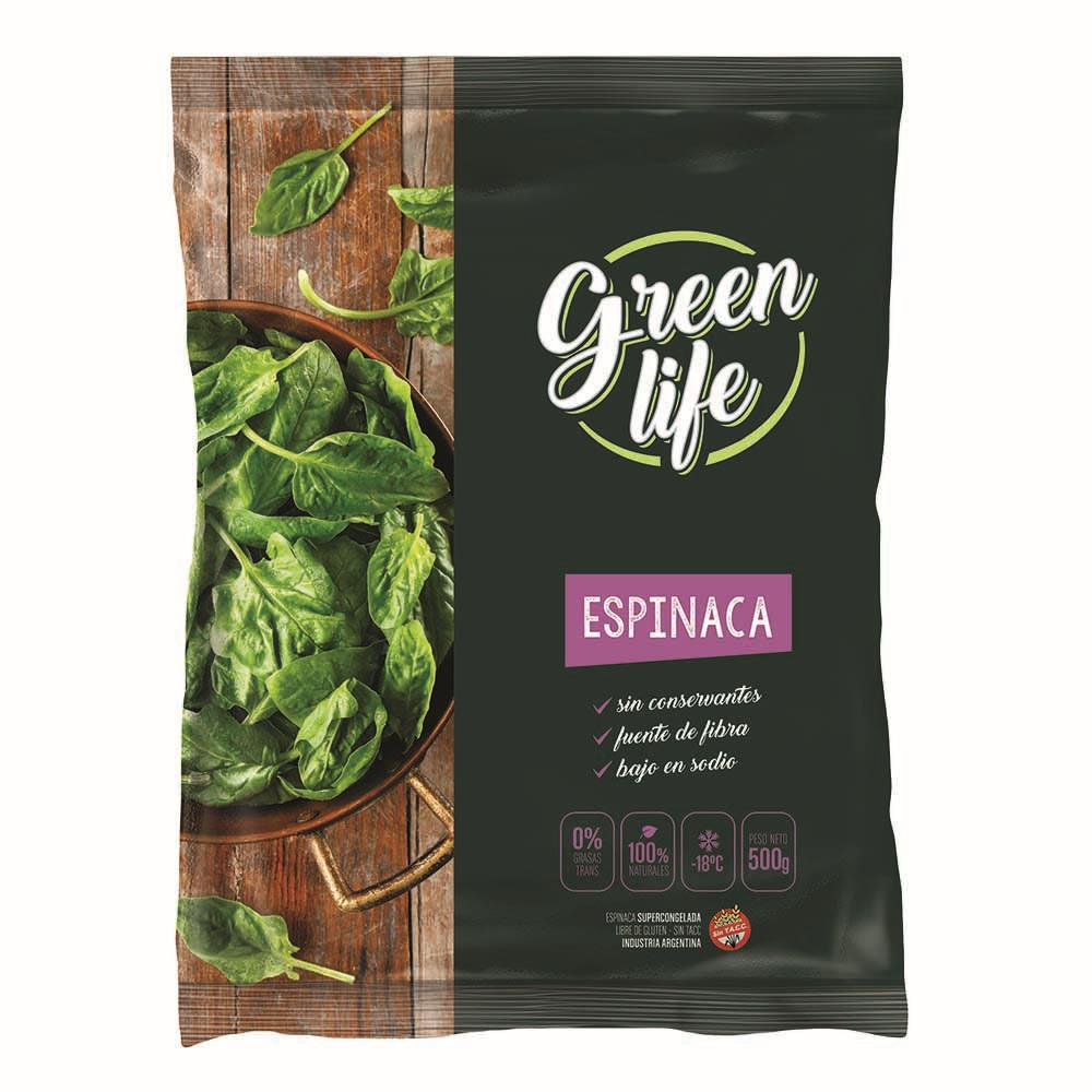 Espinaca . GREEN LIFE Paq 500 Grm