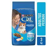 Alimento Adultos PURINA CAT CHOW 3 Kg Pescado Y Mariscos
