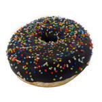 Donut Bañada En Chocolate Rellena De Dulce De Leche