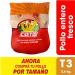 Pollo Entero Fresco X Uni (2.6 Kg)