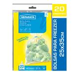 Bolsa Freezer 25x35 Separata Paq 20 Uni