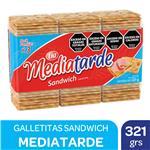 Galletitas Crackers Mediatarde Paq 321 Grm