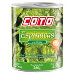 Espinaca COTO En Hojas Lata 380 Gr