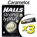 Caramelos HALLS Strong Pak 3 Uni