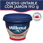 Queso Untable MILKAUT Jamón 190 Gr