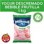 Yogur Descremado MILKAUT Frutilla Bebible 1 Kg