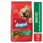 Alimento Adultos PURINA DOGUI 15 Kg Carne Asada Y Vegetales
