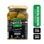 Aceitunas Verdes NUCETE Rellena Morrones Premium Frasco 360 Gr