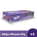 Alfajor MILKA Mousse 42 Gr X 6 Uni