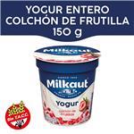 Yogur Entero MILKAUT Frutillas Colchón Frutas 150 Gr