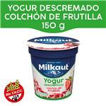 Yogur Descremado MILKAUT Frutillas Colchón Frutas 150 Gr