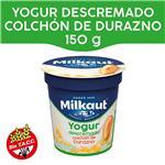 Yogur Descremado MILKAUT Duraznos Colchón Frutas 150 Gr