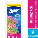 Bolsas Herméticas ZIPLOC Multipack 9un