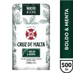 Yerba Mate CRUZ DE MALTA Boldo Y Menta    Paquete 500 Gr