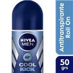 Desodorante Antitraspirante NIVEA MEN Cool Kick Roll-On 50 CC