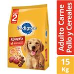 Alimento Adultos PEDIGREE 15 Kg Carne, Pollo Y Vegetales