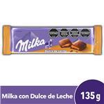 Chocolate MILKA Relleno Dulce De Leche Tab 135 Grm