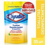 Toallitas Desinfectantes AYUDIN Aroma Limon Doy 35 Uni