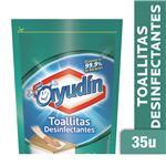 Toallitas Desinfectantes AYUDIN Aroma Fresco Doy 35 Uni