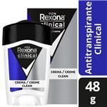 Desodorante Antitranspirante Rexona Clinical Men En Crema 48 G