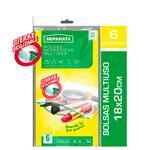 Bolsa Hermetica SEPARATA C/Cierre Deslizable Paq 6 Uni
