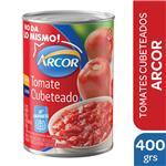Tomate Cubeteado ARCOR Pelado Lata 400 Gr