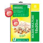 Bolsa Hermetica SEPARATA C/Cierre Dentado Paq 8 Uni
