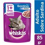 Alimento En Sobres  WHISKAS 85 Gr Sardina