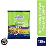 Queso En Hebras Italiano Light La Paulina Bsa 135 Grm