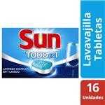 Tabletas Lavavajillas SUN 3 En 1 Caja 16 Unidades