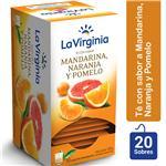 Té Mandarina, Naranja Y Pomelo LA VIRGINIA     Caja 20 Saquitos