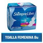 Toallas Femeninas SIEMPRE LIBRE Tanga Con Alas Paquete 8 Unidades
