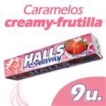 Caramelos HALLS Creamy Frutilla Paq 27 Grm