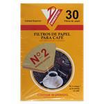 Filtro De Papel P/Cafe Nº2 X 30 Unid . . .