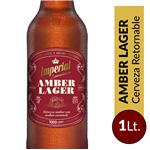 Cerveza Amber Lager IMPERIAL   Botella 1 L
