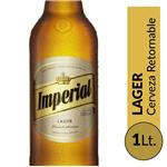 Cerveza Lager IMPERIAL   Botella 1 L
