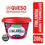 Queso Untable FINLANDIA Light Jamón Y Parmesano 200 Gr