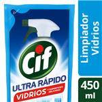 Limpiador Líquido CIF Vidrios Repuesto 450 Ml