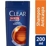 Shampoo CLEAR Anticaspa Caida Control Botella 200 ML