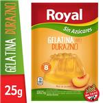 Gelatina ROYAL Durazno Light   Sobre 25 Gr